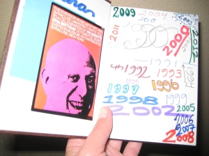 quote book with photo of picasso 90th birthday exhibition